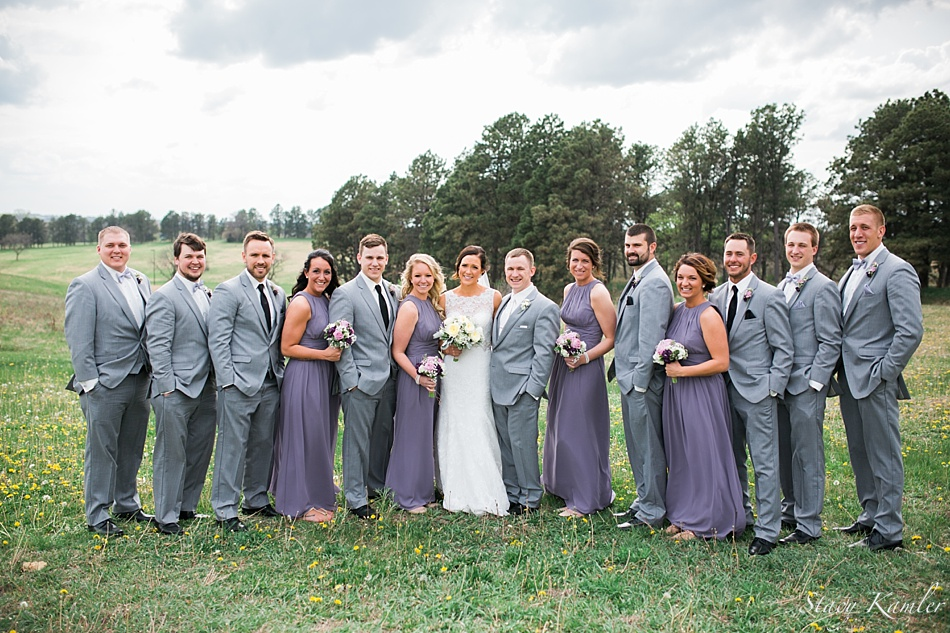 Bridal Party Photos at Pioneers Park, Lincoln NE