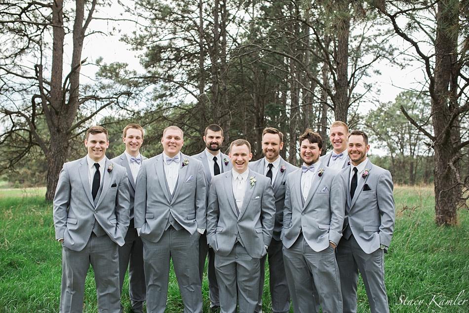 Groomsmen in Gray tuxes