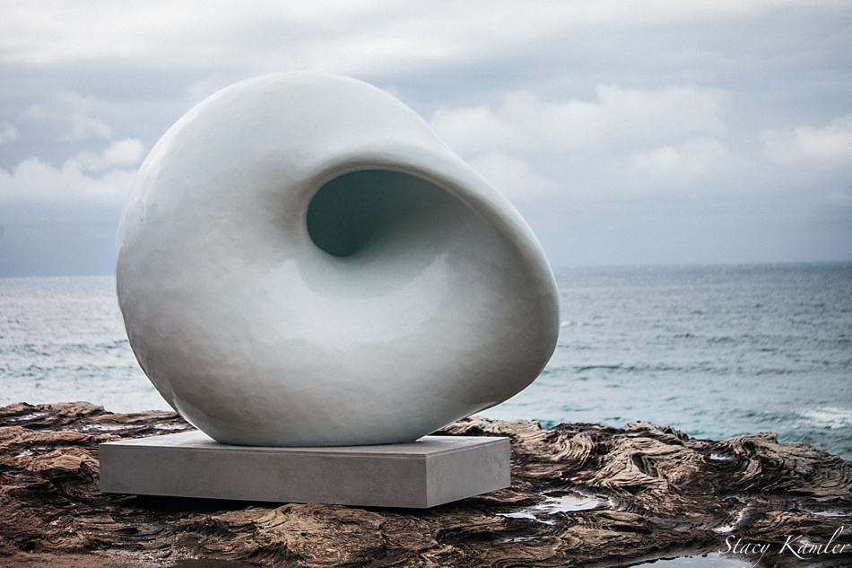 """""""Acoustic Chamber"""" by Reed and Nurimba Sculpture by the Sea, Bondi Beach, Australia"""