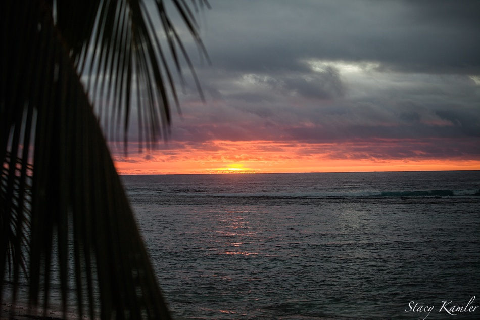 Colorful Sunset at Rarotonga
