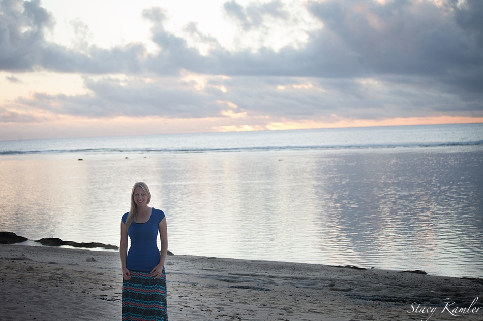 Me at the Beach in Rarotonga
