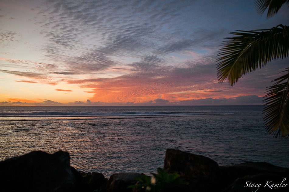 Sunset at Rarotonga