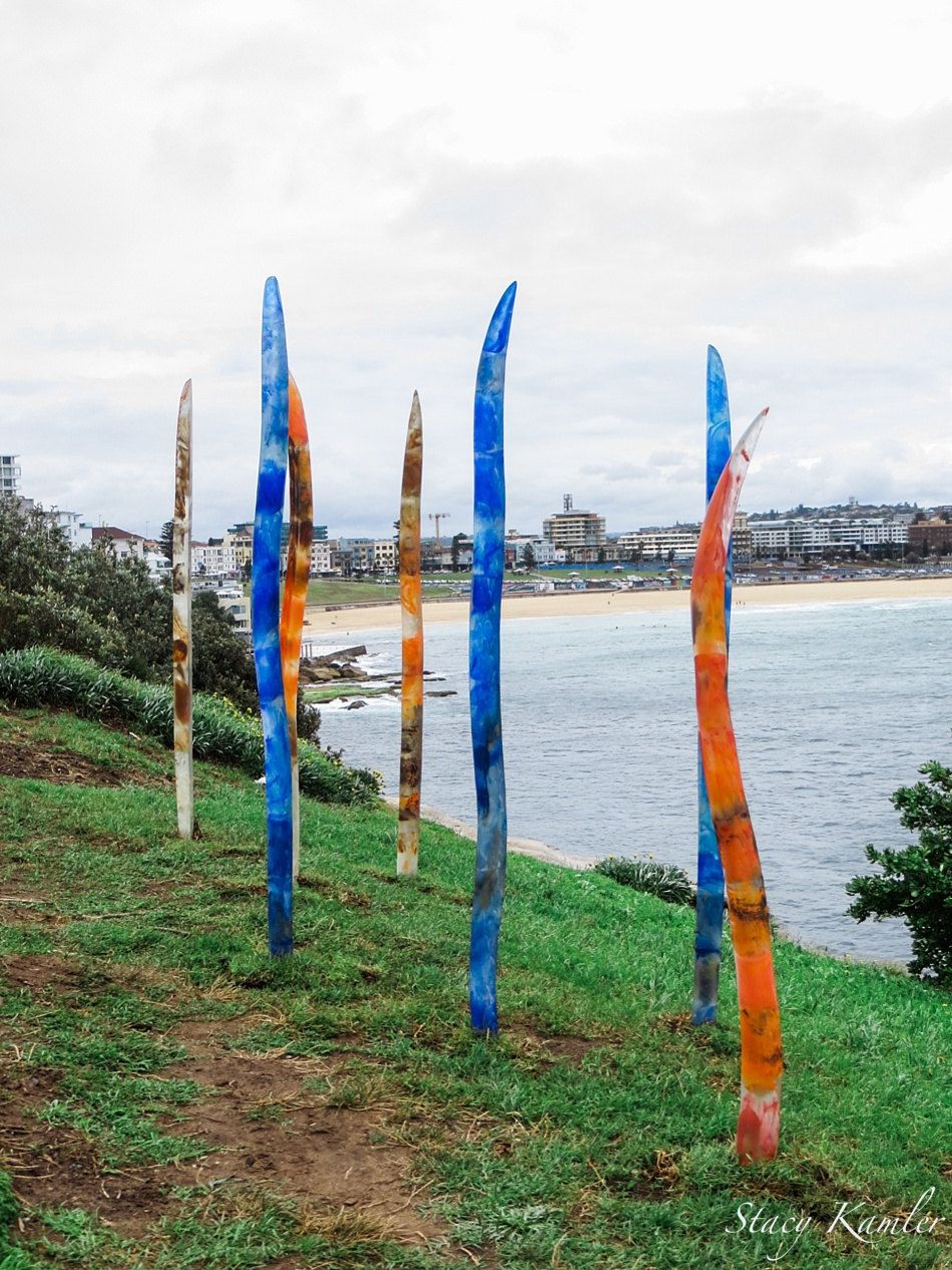"""Nascent Blades of Grass"" by Sallie Portnoy, Sculpture by the Sea, Bondi Beach, Australia"