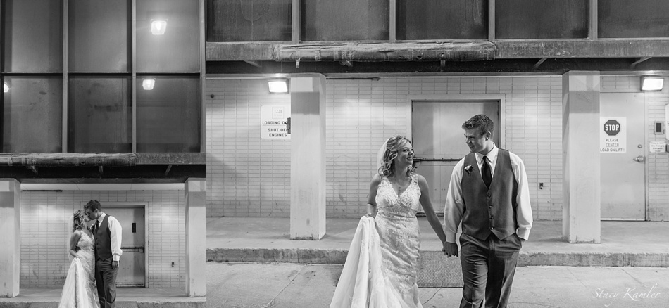 Bridal Portraits in Parking Garage in Downtown, Lincoln NE