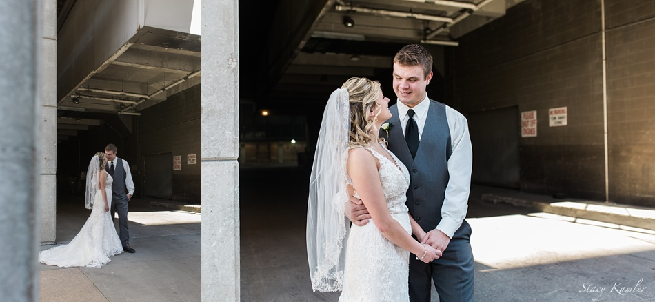 Bridal Portraits in Parking Garage