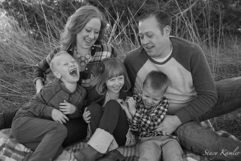Laughter at a family session in Lincoln, NE