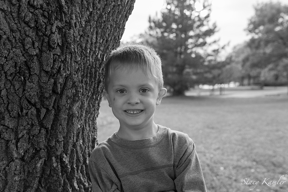 five year old boy portrait