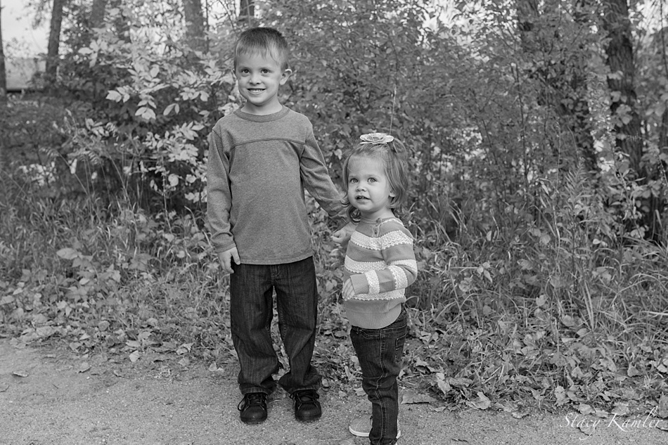 Brother and Sister Portraits at Park