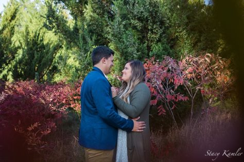 Fall color engagement photos