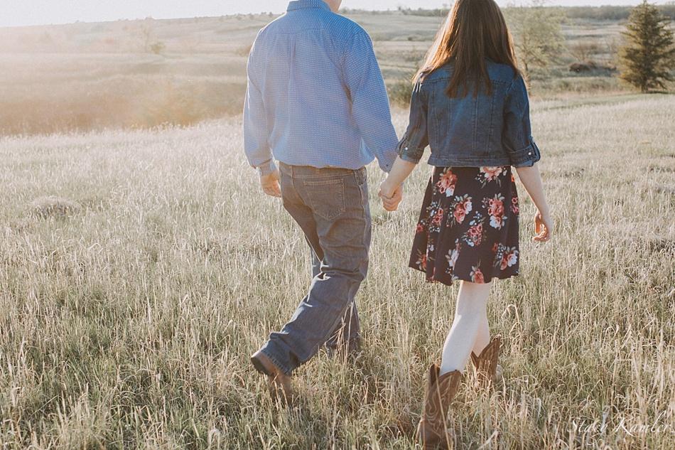 Engagement photos at Golden Hour