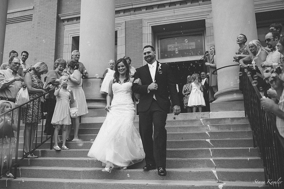 Bride and Groom Exit First United Methodist Church, Lincoln NE