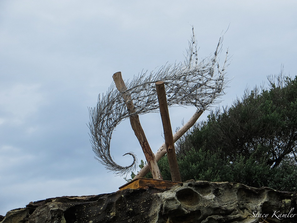 """Wind Spiral"" by Bronwyn Berman, Sculpture by the Sea, Bondi Beach, Australia"