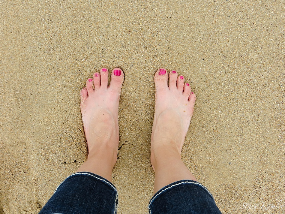Feet at Bondi Beach