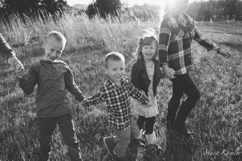 Golden Hour Family portrait in Nebraska