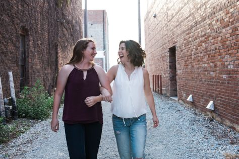 Best Friends Photo skipping in Alley