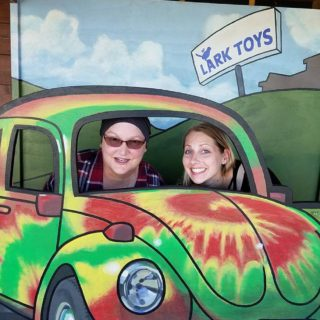 Julie and I at Lark Toys