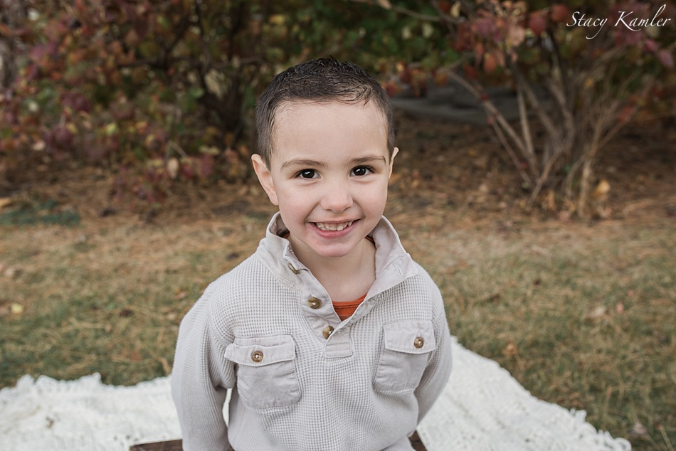 little boy portraits during family session