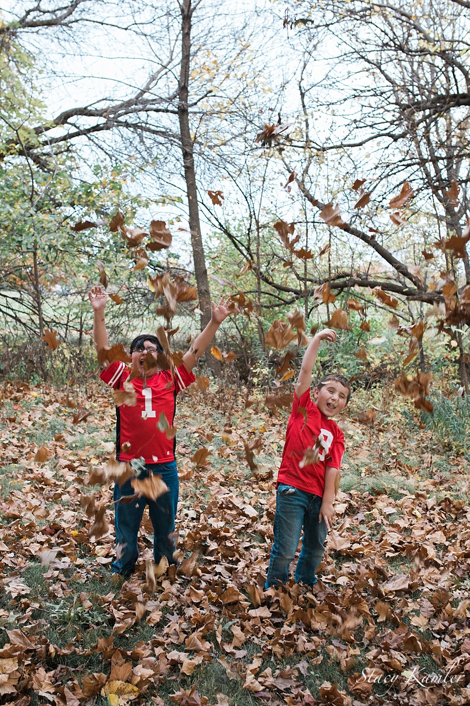 throwing leaves at roper park