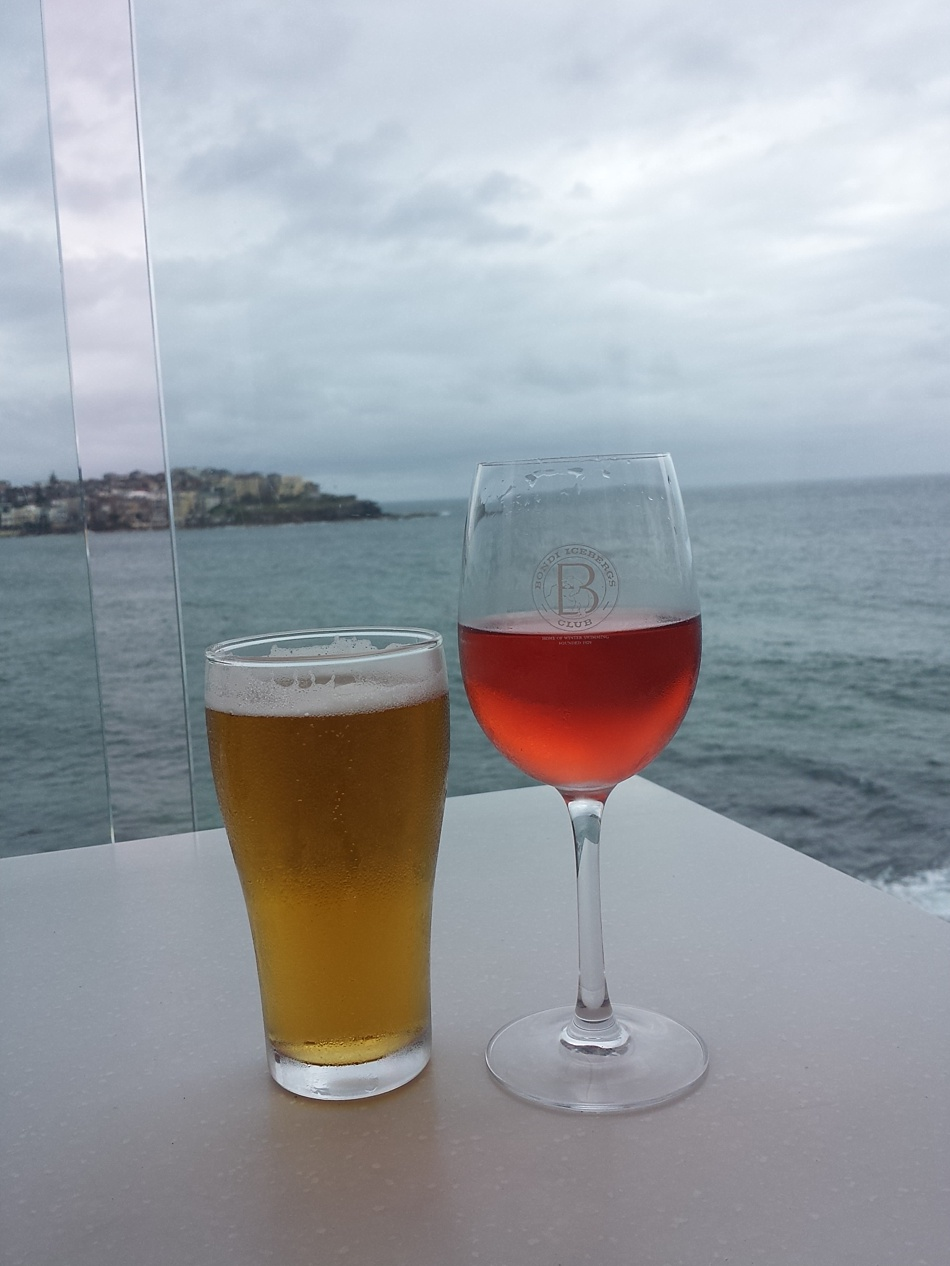 Drinks at Bondi Beach