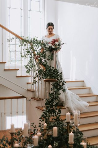 Florals by Over the top events Utah for Bridal Styled Shoot in Utah