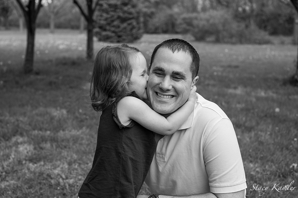 Father and Daughter Kisses