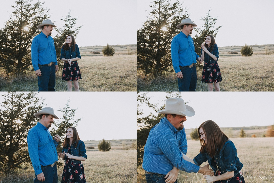 Tickle Session during Engagement Photos