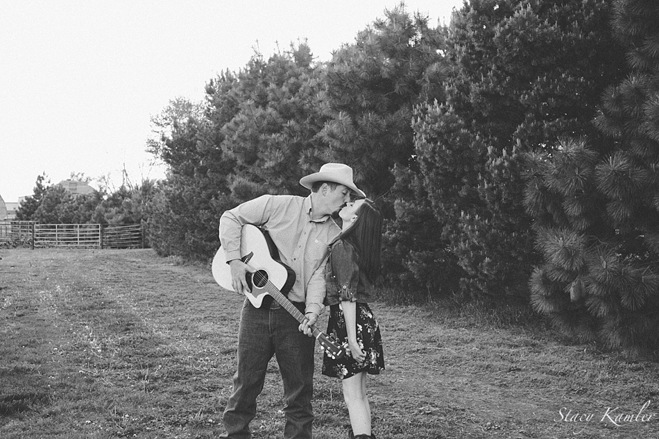 Country Engagement Session with guitar