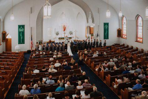 Wedding Ceremony at St. Paul Lutheran Church, Concordia, Missouri