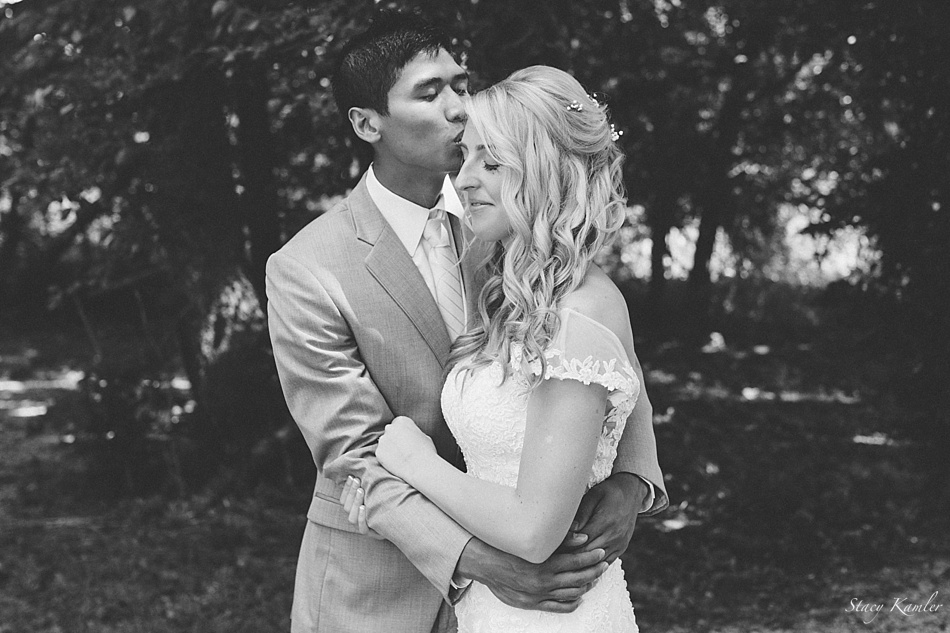 Black and White Bride and Groom Photos, Lincoln NE