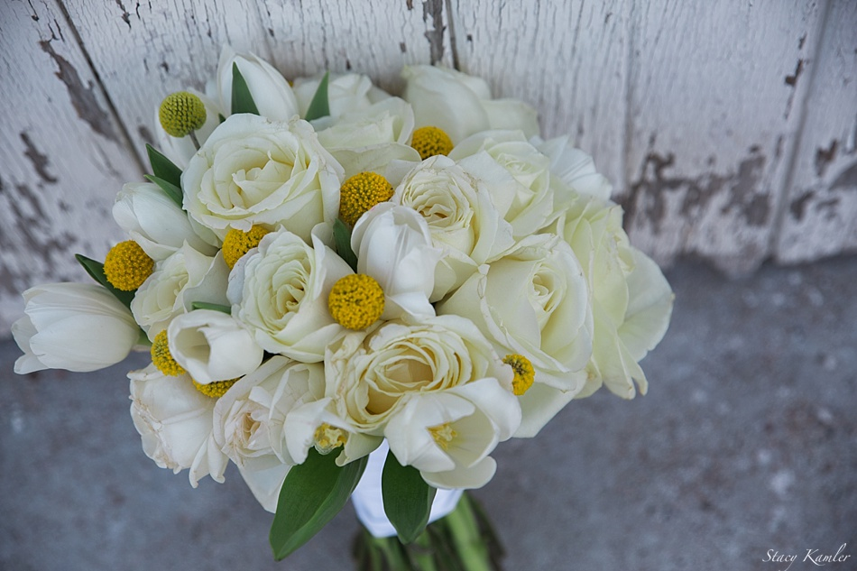 Yellow and Ivory Bridal bouquet