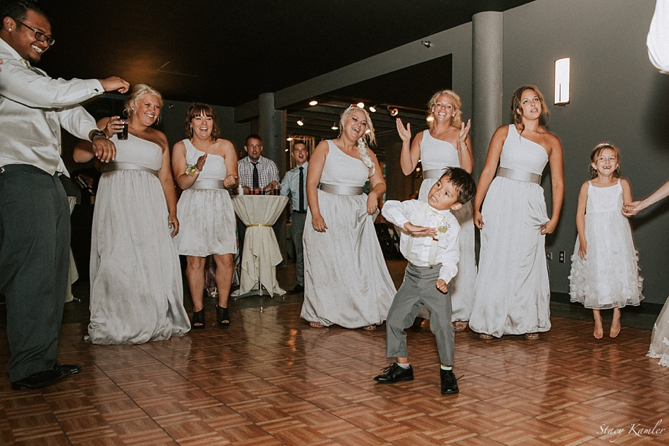 Ring Bearer dancing at the Wedding
