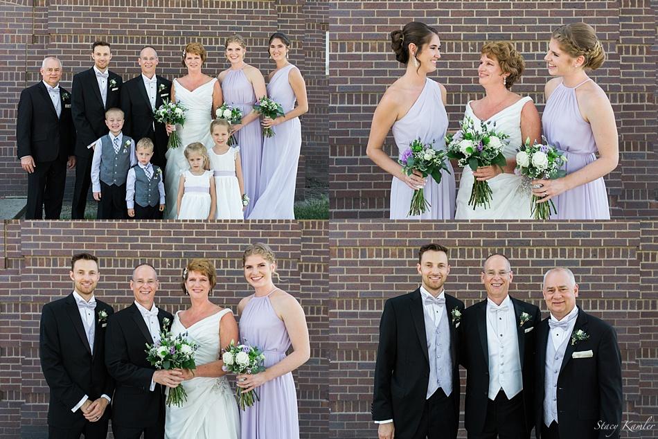 Wedding Party Photos at Presbyterian Church in Central City