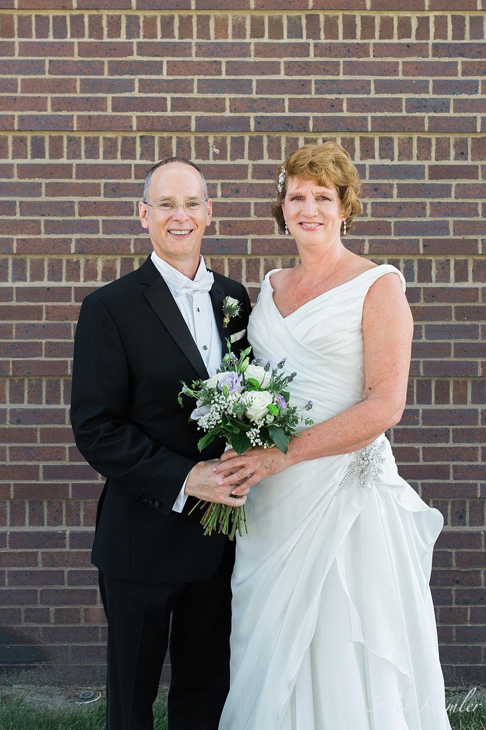 Bride and Groom at the Presbyterian Church in Central City, NE