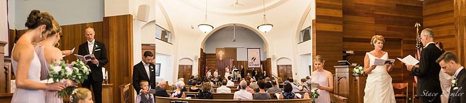 Wedding Ceremony at the Presbyterian Church in Central City, NE