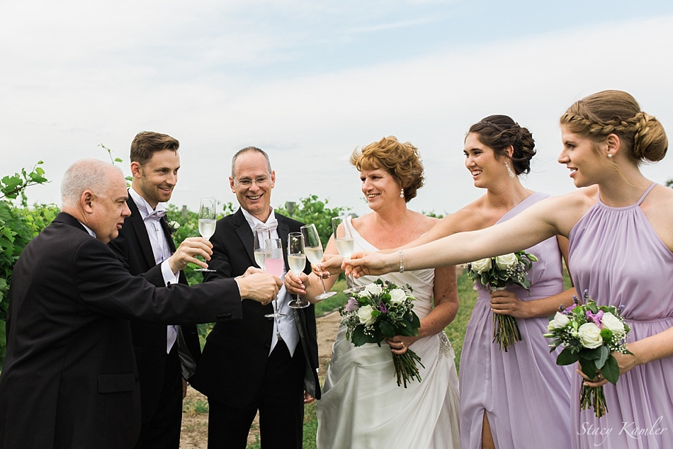 Wedding Party photos at the Prairie Creek Winery