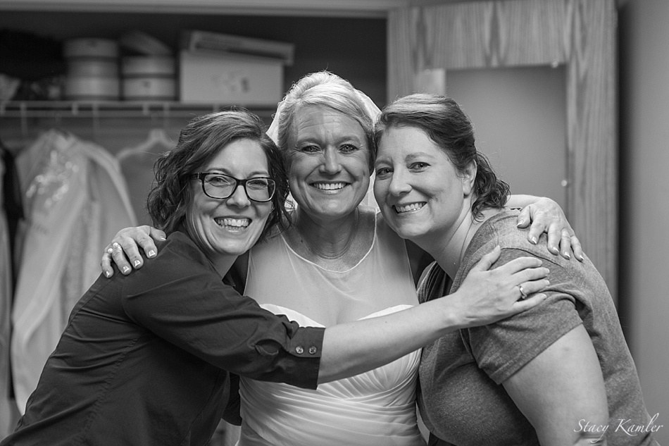 Bride and her sisters