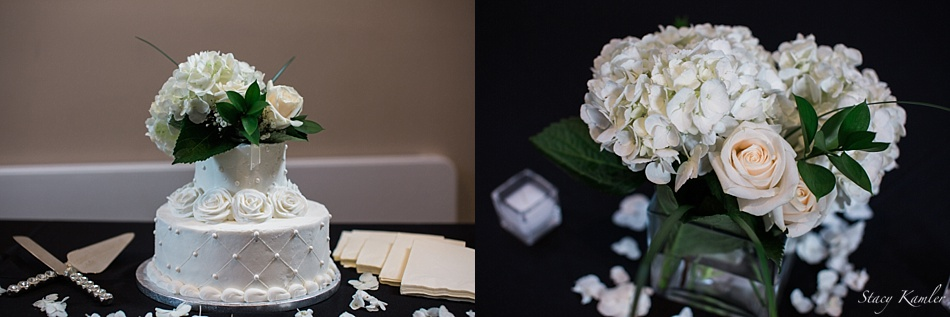 Cake and Centerpieces for Omaha, NE Wedding