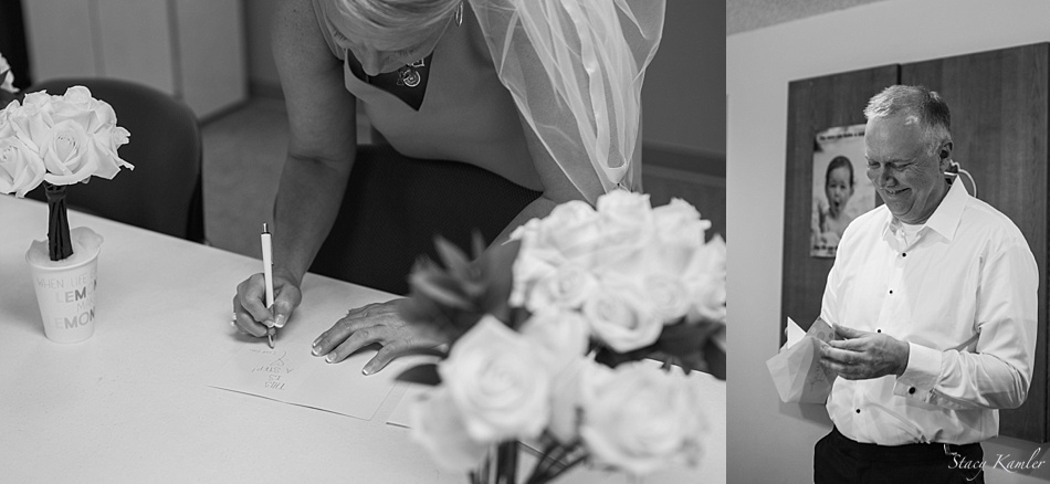 Notes to each other on the Wedding Day