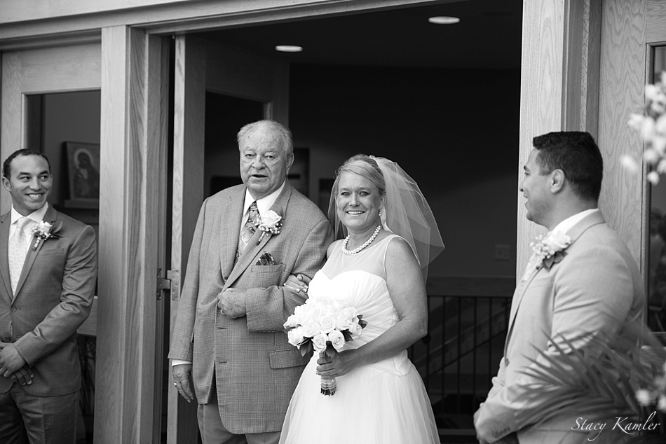 Walking down the isle with Dad