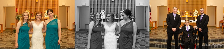 Bridal Party Portraits at St. Joseph's Catholic Church