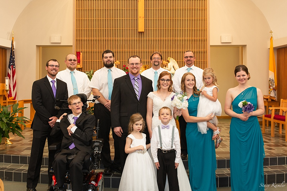 Bridal Party Photo at St. Josephs Catholic Church, Geneva, NE