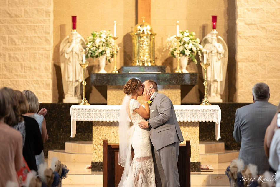 First Kiss at the North American Martyrs Catholic Church