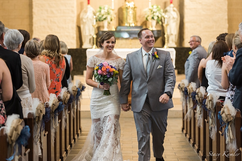 Just Married at the North American Martyrs Catholic Church