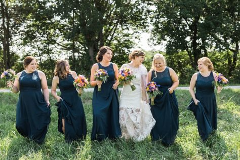 Bridesmaids photos in Roca, NE