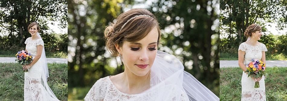 Bridal Portraits in a Maggie Sottero Lace Dress