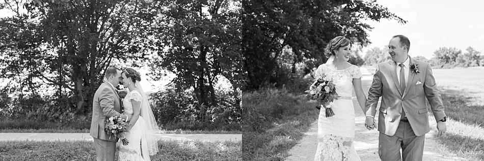 Bride and Groom Portraits near Roca, Ne