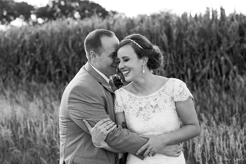 Happiness and Laughter in the Bride and Groom