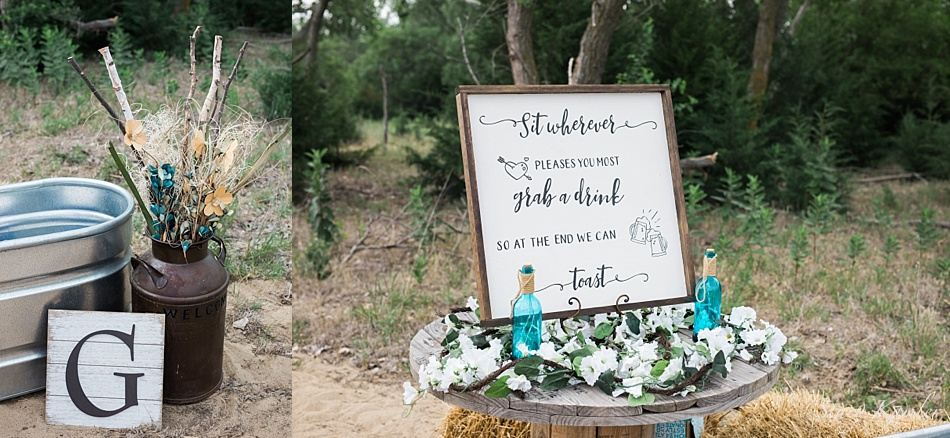 Outdoor Ceremony Decor Teal and White