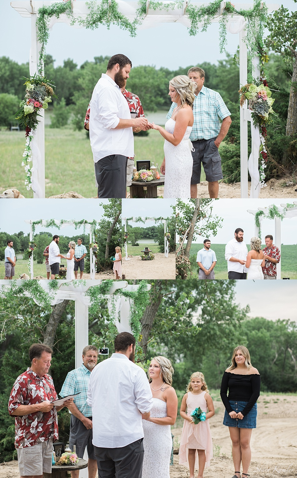 Small, Intimate Outdoor Ceremony in Geneva, Ne