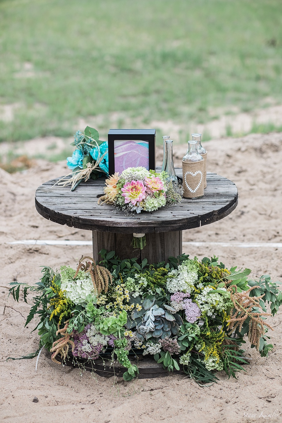 Ceremony Decor and flowers, succulents